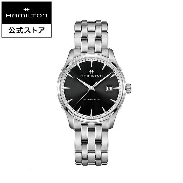 ハミルトン 公式 腕時計 Hamilton Jazzmaster Gent ジャズマスター ジェント メンズ メタル H32451131 | 正規品 時計 メンズ腕時計 ブランド ブレスレットウォッチ クォーツ ビジネス watch クオーツ シンプル 男性 オフィス プレゼント スーツ 黒 20mm 黒文字盤 モダン