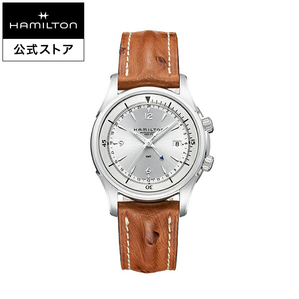 ハミルトン 公式 腕時計 Hamilton Jazzmaster Traveler GMT ジャズマスター トラベラー GMT メンズ レザー | 正規品 時計 メンズ腕時計 自動巻き 革ベルト ウォッチ 防水 機械式 22mm おしゃれ 男性腕時計 革 機械式腕時計 男性 20気圧防水 メンズ時計 ブラウン
