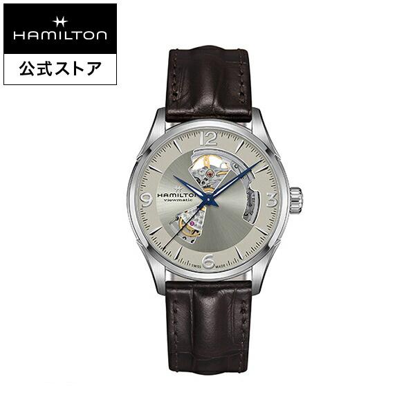 ハミルトン 公式 腕時計 Hamilton Jazzmaster Open Heart ジャズマスター オープンハート メンズ レザー | 正規品 時計 メンズ腕時計 ブランド 機械式自動巻 ウォッチ 革ベルト ブラウン ビジネス 機械式 watch 男性 スイス シルバー文字盤 男性用腕時計