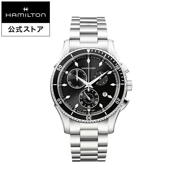 ハミルトン 公式 腕時計 HAMILTON Jazzmaster Seaview ジャズマスター シービュー クオーツ クォーツ 44.00MM ステンレススチールブレス ブラック × シルバー H37512131 メンズ腕時計 男性 正規品 ブランド ビジネス シンプル