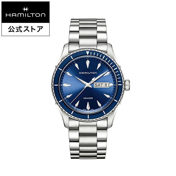 ハミルトン 公式 腕時計 Hamilton Jazzmaster Seaview Day Date ジャズマスター シービュー デイデイト メンズ メタル H37551141 | 正規品 時計 メンズ腕時計 ブランド クォーツ ウォッチ ビジネス クオーツ 男性 オフィス プレゼント スーツ ウオッチ クールビズ 青文字盤