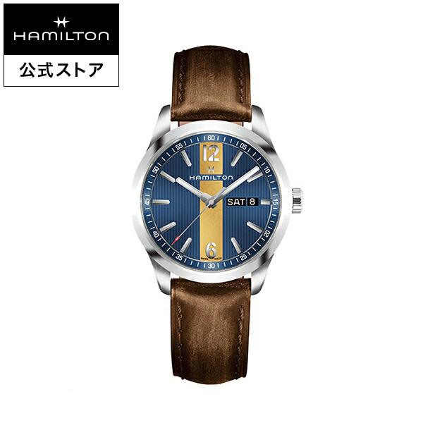 ハミルトン 公式 腕時計 Hamilton Broadway Day Date ブロードウェイ デイデイト メンズ レザー H43311541 | 正規品 時計 メンズ腕時計 ブランド ベルト ウォッチ ブランド腕時計 ビジネス 男性腕時計 watch 紳士 男性 プレゼント ウオッチ メンズウォッチ 男性用腕時計