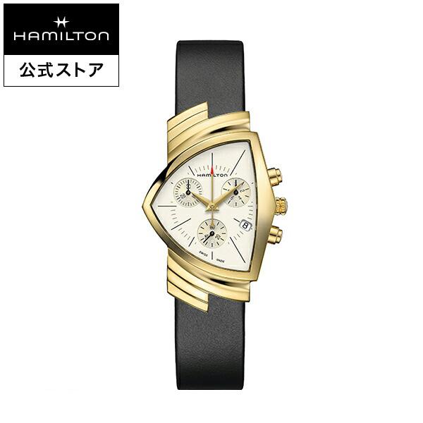 ハミルトン 公式 腕時計 Hamilton Ventura D CQ-PVD2N-sr-l-sch ベンチュラ クロノクォーツ メンズ レザー