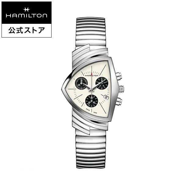 ハミルトン 公式 腕時計 Hamilton Ventura D CQ-sr-brc ベンチュラ クロノクォーツ メンズ レザー