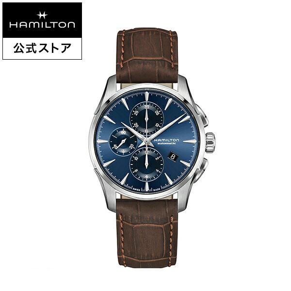 ハミルトン 公式 腕時計 Hamilton JM D AC42-bl-l-br ジャズマスター オートクロノ メンズ レザー