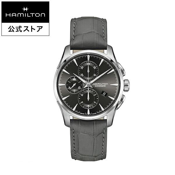 ハミルトン 公式 腕時計 Hamilton JM D AC42-at-l-gr ジャズマスター オートクロノ メンズ レザー