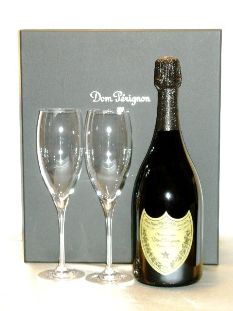 ドン ペリニヨン ヴィンテージ [2009] ロゴ入り フリュートグラス2個付セット 【正規品】Dom Pérignon Vintage 2 Flute Set's