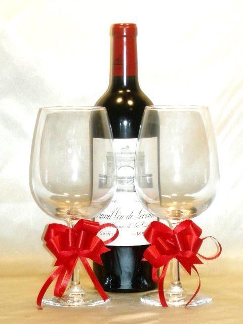 シャトー・レオヴィル・ラス・カーズ [2014] 超豪華ワイングラス2個セット♪【送料無料】
