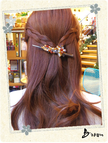 Saki Yuki - Kawasaki-the natural stone & Freshwater Pearl-head axe, hair accessories, hairclip, head range videos]
