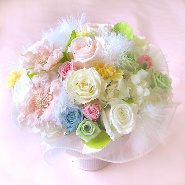 プリザーブドフラワーご結婚ご出産のお祝いに ロイヤルベビーL*玄関・リビングに可愛く♪*【楽ギフ_メッセ入力】【HLS_DU】