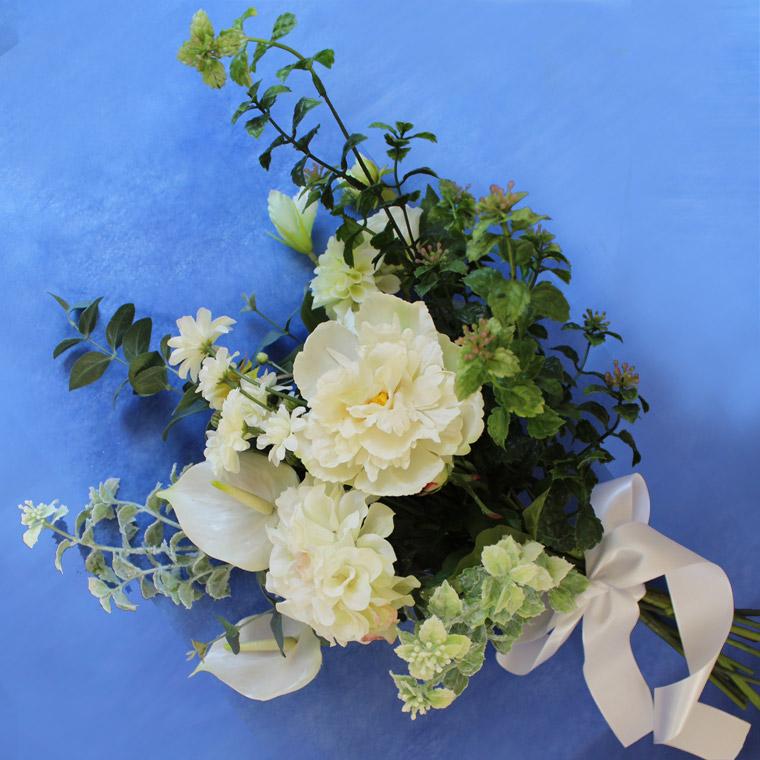 人気の アーティフィシャルフラワー(造花)1点限り クラッチブーケブライダルブーケ & ブートニア セット クラッチ クラッチブーケ アートフラワー 造花 アーティフィシャルフラワー