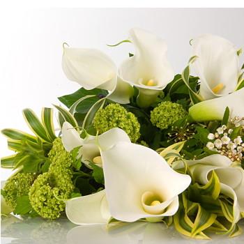 誕生日 開店祝い 開業祝い プレゼント おまかせ ホワイト、グリーン系花束 開業祝い 花 人気ランキング 花ギフト 花束 送別 卒業 (就任 送別 誕生日 などにも) バラ 就任 送別 33 花束