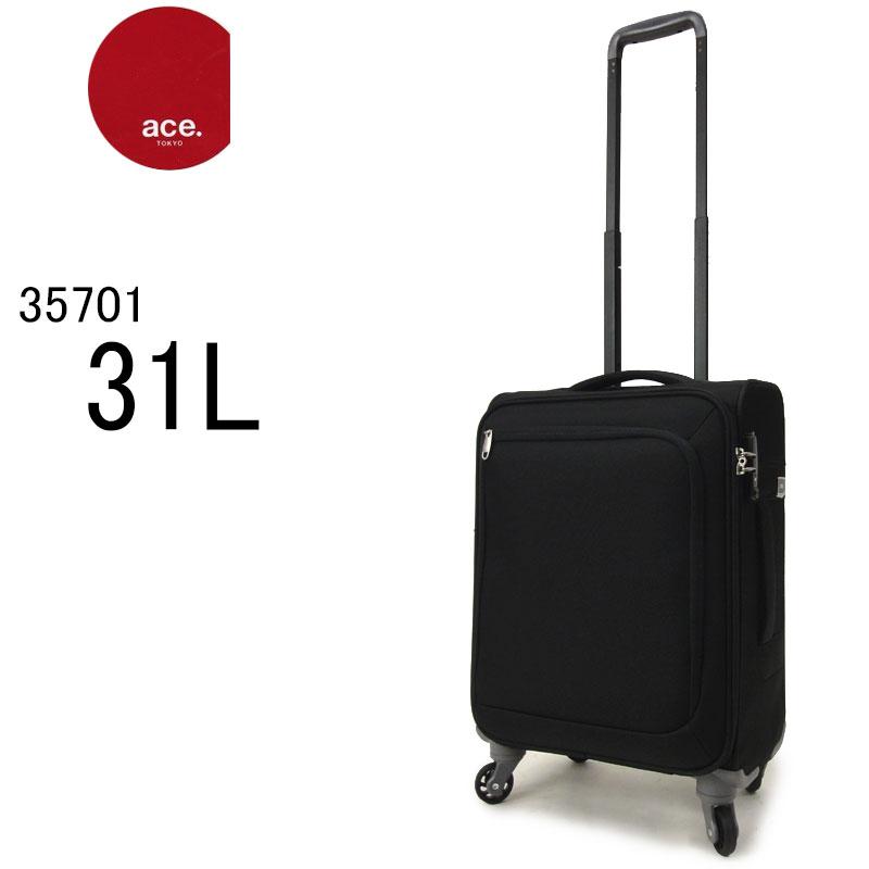 ace TOKYO エース トーキョー キャリーバッグ 機内持ち込みサイズ スーツケース ソフトキャリーケース ファスナー TSAロック 軽量丈夫 旅行 トラベルバッグ 35701 ロックペイントSS(31L/2.3kg/1泊~2泊) 正規品