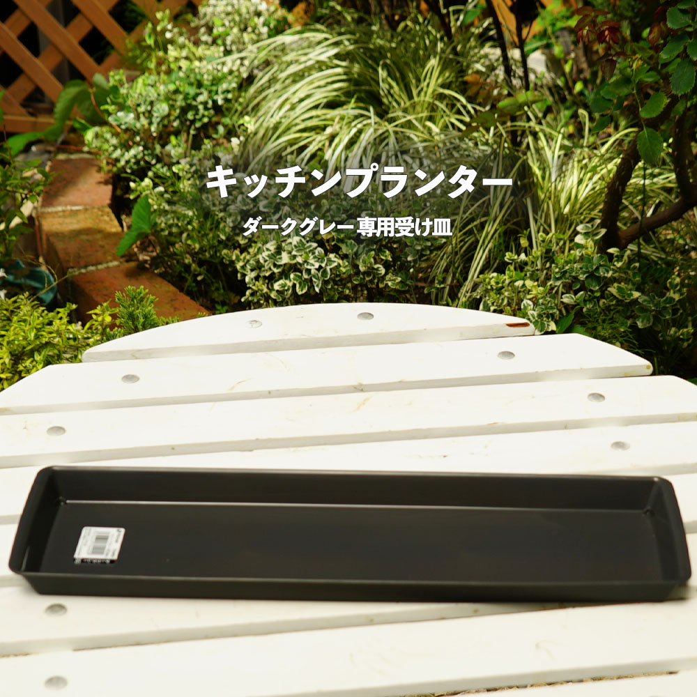贈答 国内正規品 キッチンプランター専用受け皿 ダークグレー