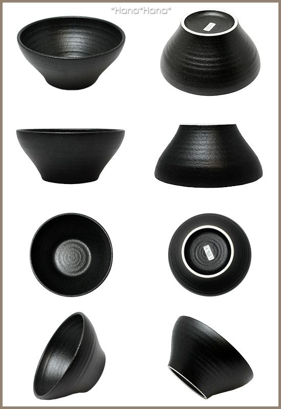 有kuroppu 15cm深型盘子深鉢中鉢黒餐具