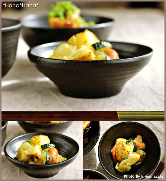 kuroppu 13cm浅型小鉢浅鉢黒作为有,餐具漂亮的黑色的餐具酷的黑色的餐具