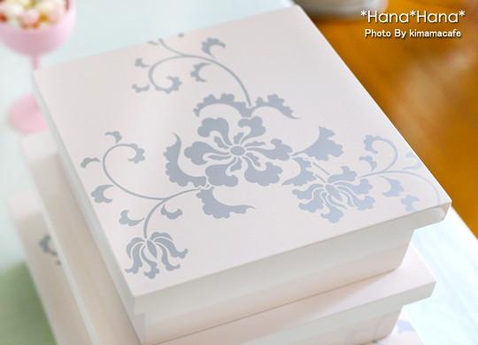 唐草 三入子重箱 3段 最大21cm オフホワイト 漆器