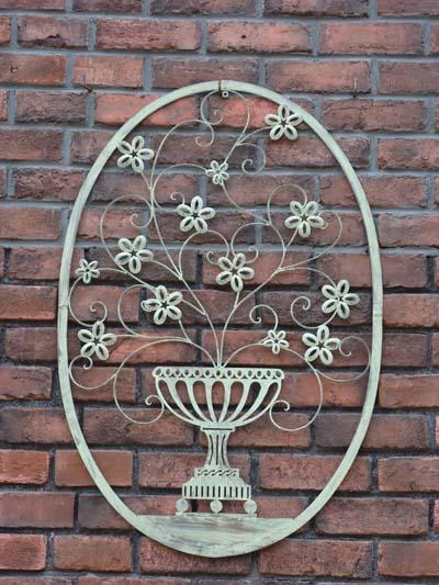 ハンギング アイアン ジャルダン 壁掛けガーデニング ガーデン アンティーク 送料無料【花遊び】『JARDIN FLOWER WALL DECORL・L』