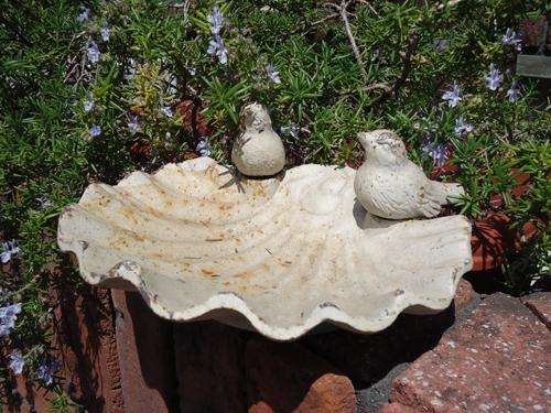 バードバス 小鳥 ガーデニング ガーデン雑貨 小鳥 アンティーク 樹脂【花遊び】『アンティーク風バードフィダー』