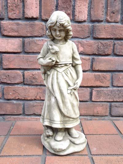 人形 ガール 女の子 イングリッシュ 英国ガーデニング ガーデン ストーン製【花遊び】『Girl Rabbit』