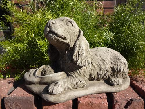 ガーデニング ガーデン いぬ アニマル イングリッシュ 英国 雑貨 ストーン製【花遊び】 『Cooker Spaniel』