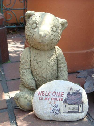 ガーデニング ガーデン ベアー くま アニマル イングリッシュ 英国 雑貨 ストーン製【花遊び】『English Mother Bear』