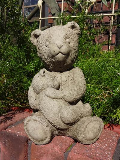 ベアー くま アニマル イングリッシュ 英国ガーデニング ガーデン 雑貨 ストーン製【花遊び】『English Mother&Baby Bear』