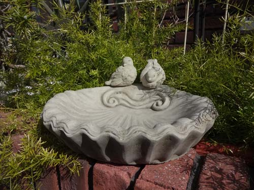 バードバス 小鳥 イングリッシュ 英国ガーデニング ガーデン ストーン製 送料無料【花遊び】『English Small Shell』