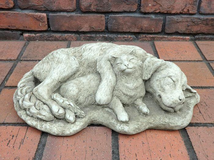 ガーデニング ガーデン いぬ 猫 イングリッシュ 英国 雑貨 ストーン製【花遊び】 『English Dog&Cat』