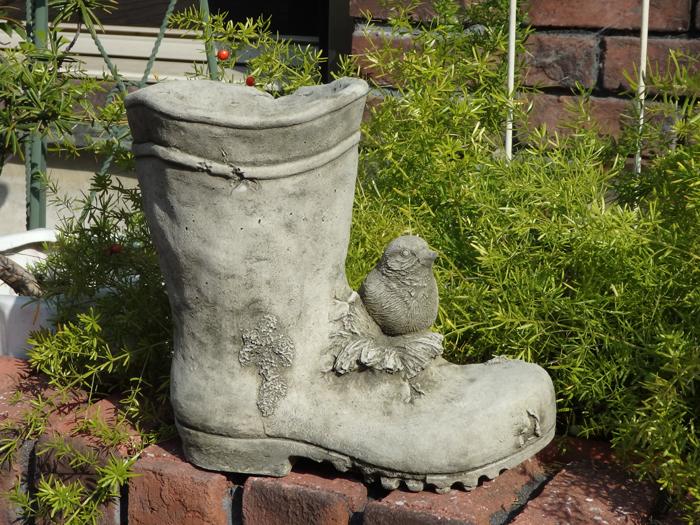 ガーデニング ガーデン ブーツ イングリッシュ 英国 雑貨 ストーン製【花遊び】 『Bird&Long Boots』