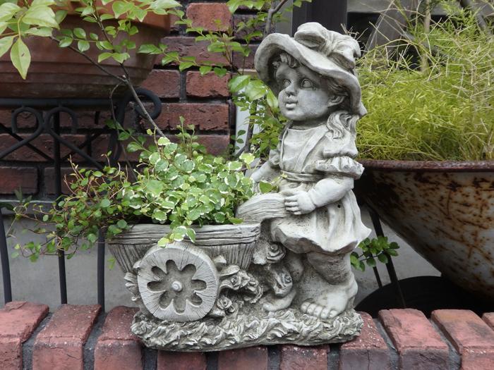 ガーデニング ガーデン ローズ イングリッシュ 英国 雑貨 ストーン製【花遊び】 『English Rose Girl Planter』