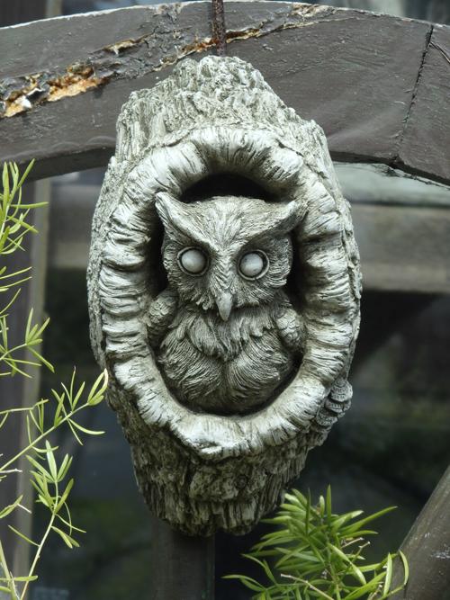 ガーデニング ガーデン プレート 雑貨 ストーン製【NEW】『English Garden Owl』