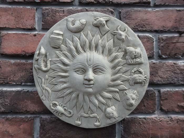 ガーデニング ガーデン プレート イングリッシュ 英国 雑貨 ストーン製【花遊び】『English Horoscope Plate』