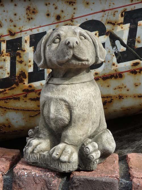 ガーデニング ガーデン ドッグ イングリッシュ 英国 雑貨 ストーン製【花遊び】 『English Puppy Dog』