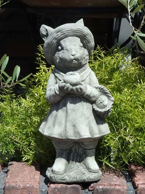 アニマル [再販ご予約限定送料無料] イングリッシュ ガーデニング ガーデン 雑貨 英国 hat ストーン製 Straw 再入荷 予約販売 Rabbit English
