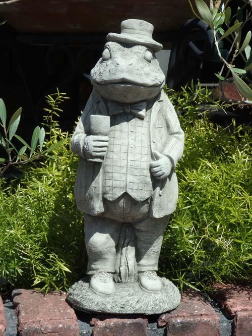 イングリッシュ ガーデニング ガーデン 雑貨『English Standing Frog』