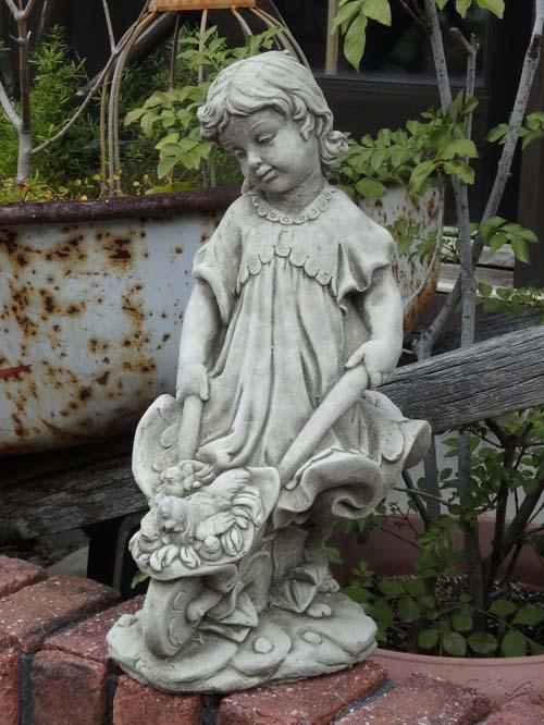イングリッシュ 英国 ガーデニング ガーデン 雑貨 ストーン製『English Farm Girl』