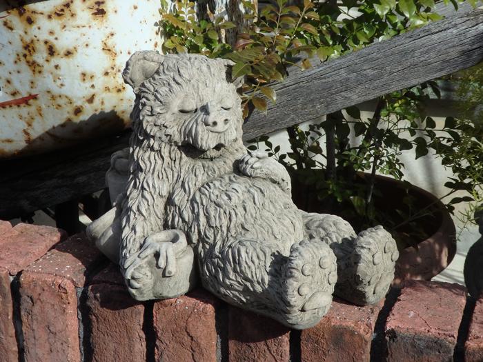 ガーデニング ガーデン ベアー 雑貨 ストーン製 『Teddy Bear・ハニーお昼寝ベアー』
