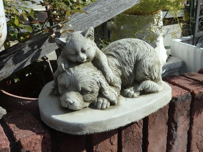 ガーデニング ガーデン 雑貨『English Puppy & Kitten』