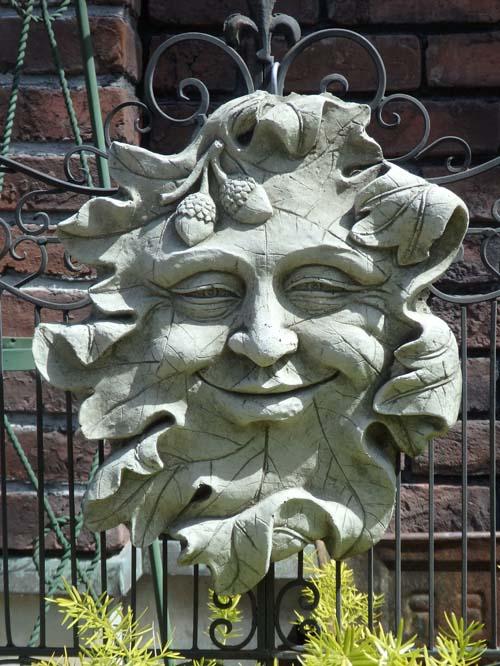 ガーデニング ガーデン プレート 雑貨『English Smile Green Man』