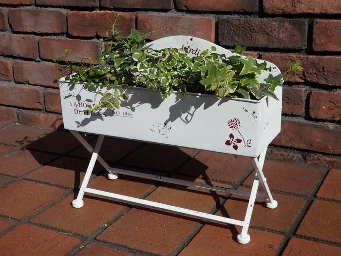 ガーデニング 期間限定特価品 ガーデン ホワイト花壇プランター 年中無休 雑貨