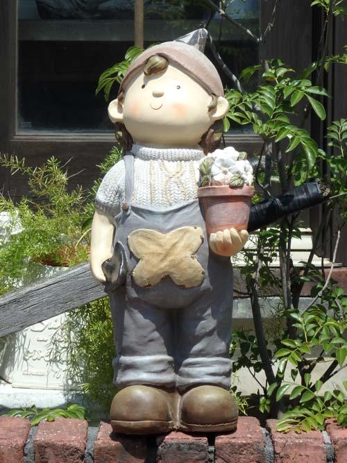 お人形 ドール 置物 雑貨ガーデニング ガーデン【花遊び】『アンティケドール♪男の子LL』