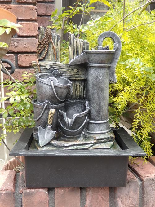 噴水 ポンプ ファウンテン 蛇口 インテリアガーデニング ガーデン アンティーク【花遊び】『アンティーク風ポンプ♪噴水』