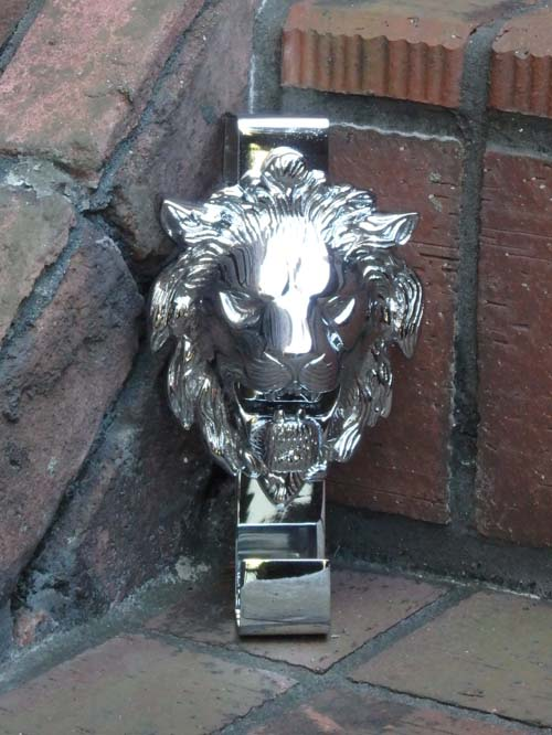 ガーデニング ガーデン 雑貨 リース 玄関 フラワー『ライオン ハンガーオブジェ・SILVER』