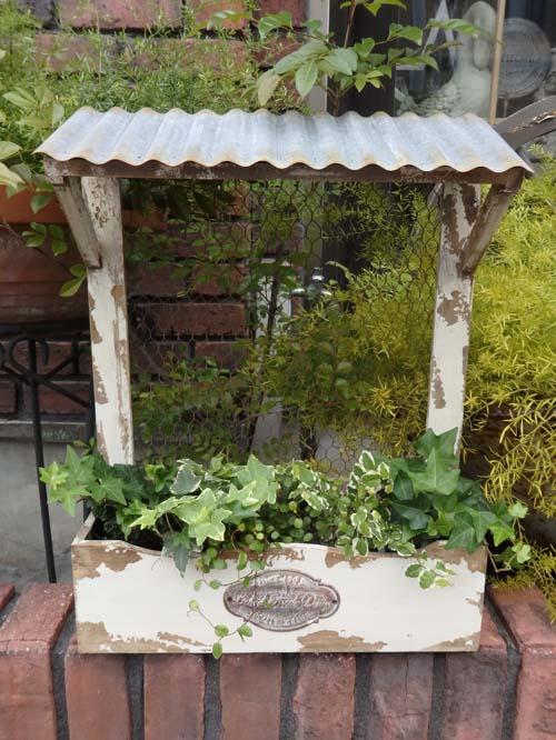 ガーデニング ガーデン 雑貨 ブリキ ハンギング寄せ植え プランター アンティーク【花遊び】『デイリーセル・ウォールラック』