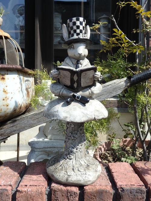 うさぎ ラビット バード 置物 樹脂 アニマル動物 雑貨 ガーデニング ガーデン【花遊び】『ラビット ジェントルマン・BOOK』