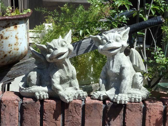 ガーデニング ガーデン ガーゴイル 置物樹脂 アニマル 動物 雑貨 【花遊び】『ガーデン モンスター』