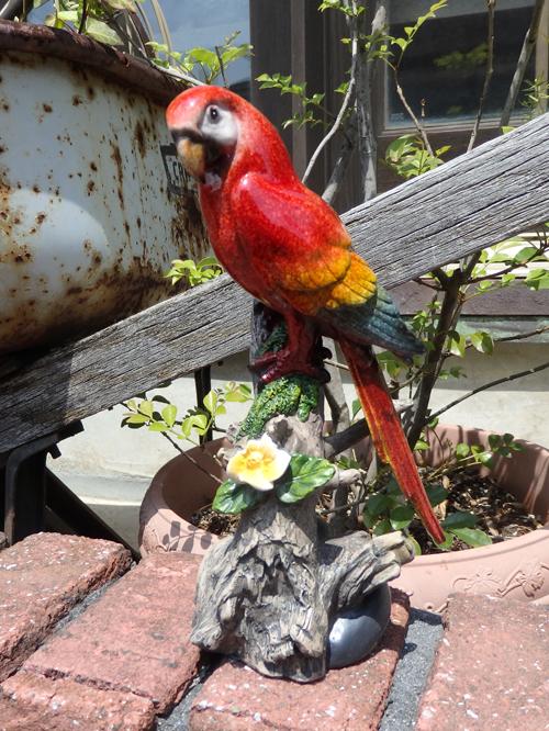 バード アニマル 雑貨 ガーデニング ガーデン『小鳥フラワースタンド・レッド』
