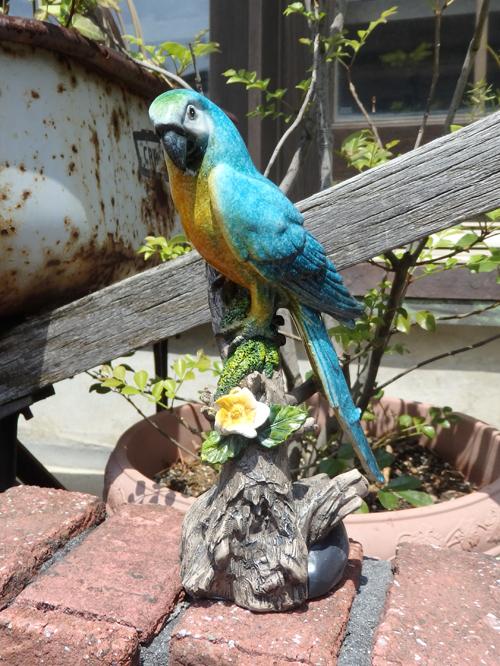 バード アニマル 雑貨 ガーデニング ガーデン『小鳥フラワースタンド・ブルー』