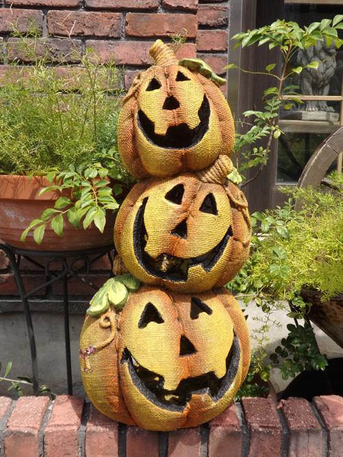 ハロウィン かぼちゃ パンプキン オーナメント【花遊び】『レトロ!パンプキンボール』